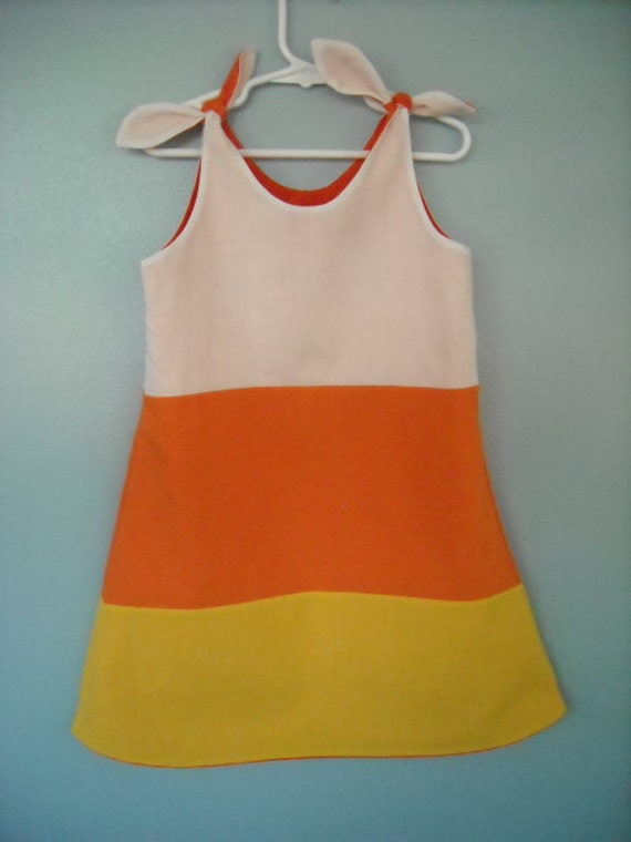Custom Made Reversible Candy Corn and Pumpkin Face Halloween Size 9 months to 5/6