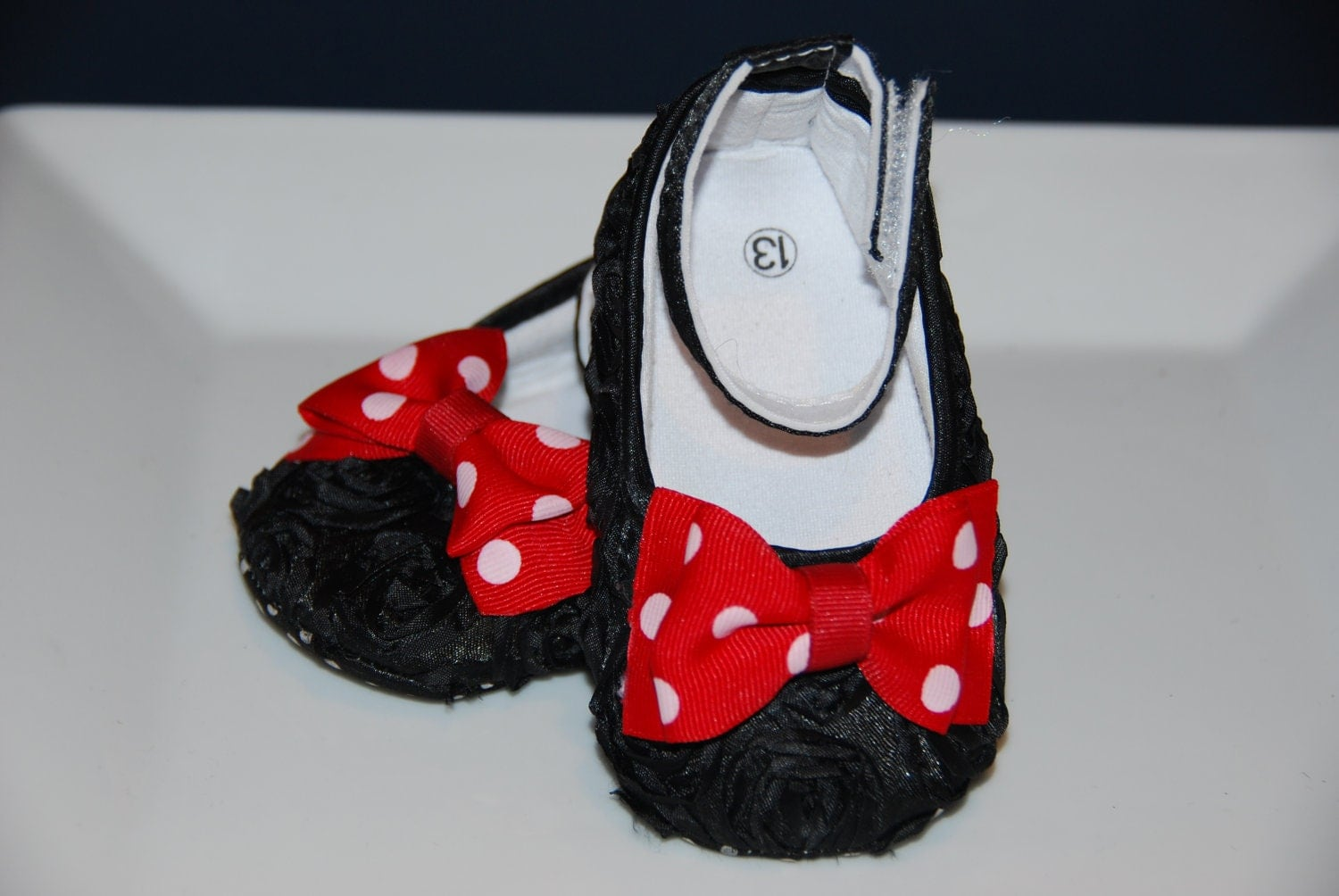 black rosette crib shoes minnie mouse inspired crib shoes