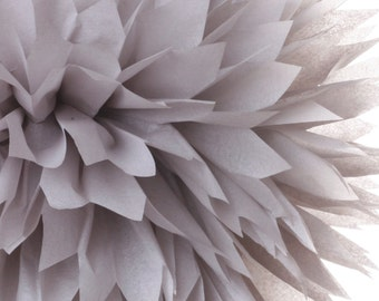 Light Gray 1 Large Tissue Paper Pom Poms
