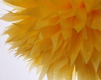 Yellow 1 Large  Tissue Paper  Pom Poms