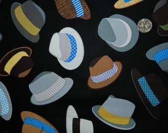 Retro Men's Hats - Fabric By The Yard