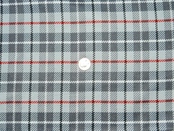 Flannel Taylor Tartan Plaid Grey Fabric By The By Thefabricfox