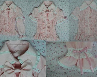 Full-shirred Lolita blouse