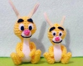 Mini and Super mini Rabbit Amigurumi set of 2 - Finish Item