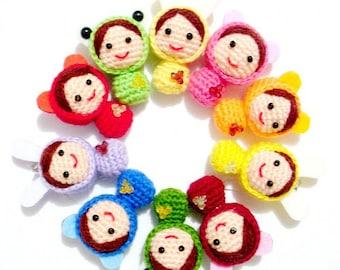 Wholesale 50 pcs crochet cute  dolls ( finished doll )