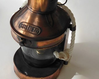 Nautical Copper Masthead lantern made by Penco of New Bedford Mass