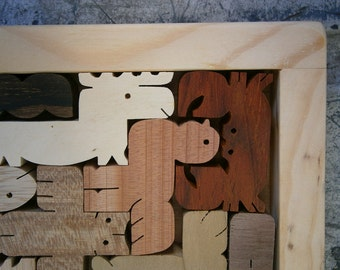 Pentomino Wood Puzzle Unique Artist's Edition