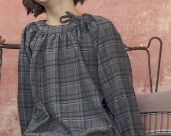 Warm checks cotton dress