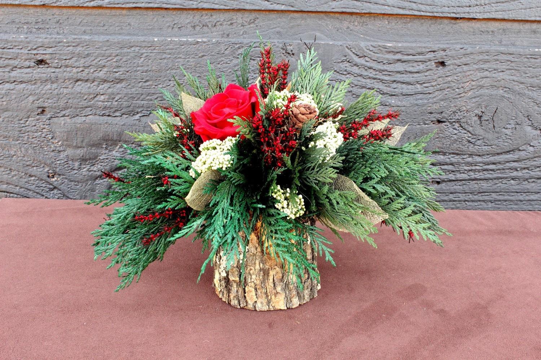 Holiday centerpiece woodland christmas