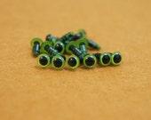 30 PAIRS 6mm Safety Green Eyes Toy Eyes for Crochet doll Amigurumi Teddy Bears
