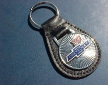 Classic 1930 Chevrolet Bowtie Car Collector Leather Key Fob Handcrafted in USA
