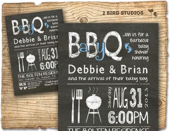 baby q baby shower invitation bbq baby shower invite diy, Baby shower invitations