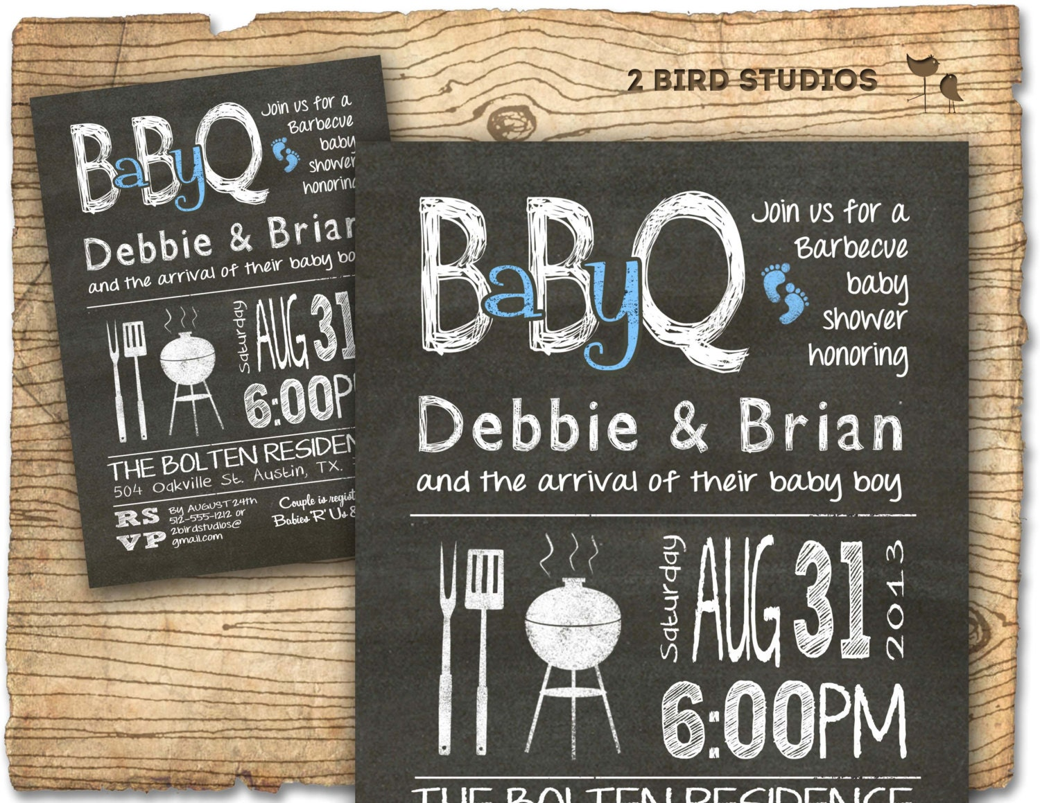co ed baby q | etsy, Baby shower invitations