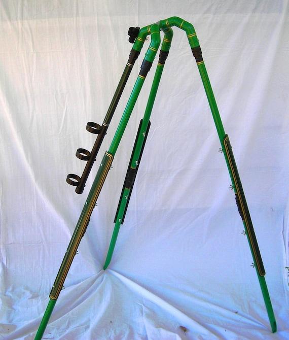Items similar to surf pro tripod fishing pole holder on etsy for Surf fishing rod holders