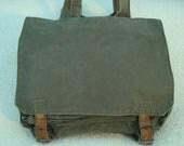 Vintage Yugoslavian Army backpack,crossbody,messenger bag,ipad,laptop,canvas bag