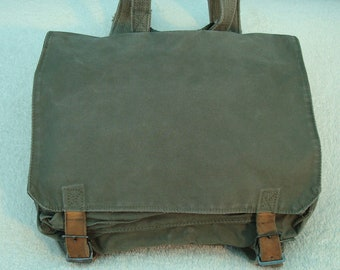 Vintage Yugoslavian Army backpack,crossbody,messenger bag,ipad,laptop,canvas bag
