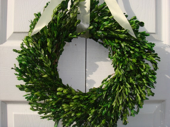 "Preserved 22"" boxwood wreath, Easter wreath, Mothers Day wreath, wedding wreath, boxwood wreath, year round wreath, spring wreath"