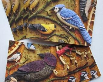 8 card set - Birds of Beebe Woods