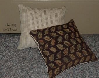 "Brown Leaf/Beige Autumn Decorative Pillow - 11""x11"""
