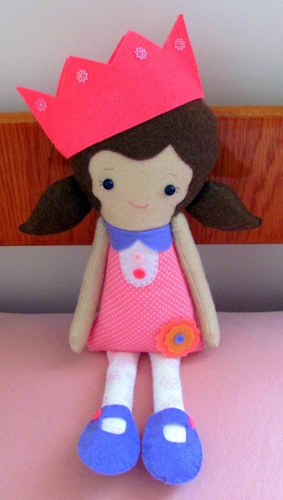 Reserved for Jenny - Princess Emma Felt Plush Doll :)