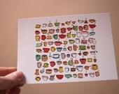 Cups of tea -  Postcard