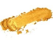 Aztec Gold . Mineral Eye Shadow . Goldenrod . Yellow Gold . Vibrant Eye Shadow . Loose Mineral Makeup . Natural Beauty . Mustard
