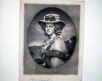 Mrs. Davenport - Mezzotint