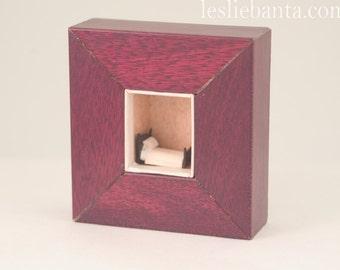Original Fine Art Sculpture: Tiny Bed Box - Art in Boxes