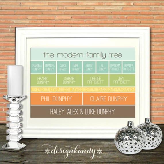 Items similar to modern family tree art print on etsy for Modern family printer