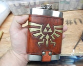 Legend of Zelda 8oz Hip Flask Holder with Flask