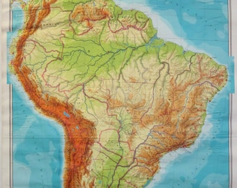 Vintage Map of Northern Part of South America