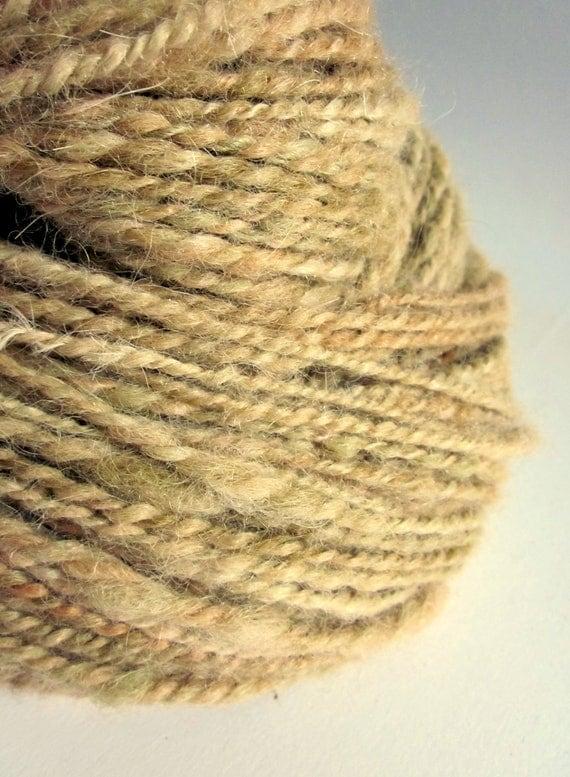 Handspun bulky alpaca yarn / wool  GINGER BISCUIT