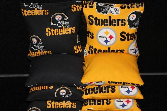PITTSBURGH STEELERS Cornhole Bags 8 Top Quality Custom Handmade ACA Regulation Bean Bags
