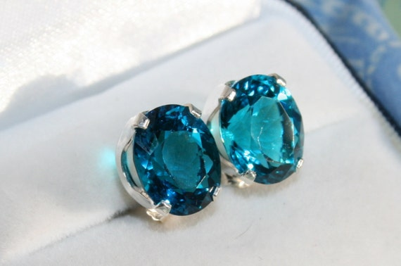 8ctw Paraiba Tourmaline Simulant Earrings On Sale