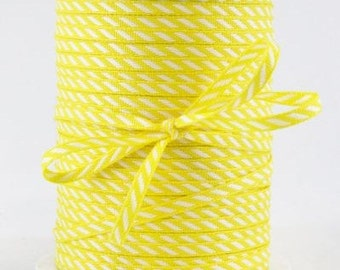 YELLOW Solid/Diagonal Stripes RIBBON -4 yards Stationery, Packages, Homemade Gifts, Tags, Cards, DIY, Crafts, Shower, Party