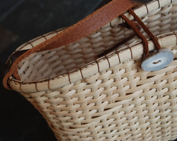 Handmade Nantucket Basket : Handmade nantucket style purse for summer