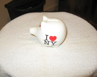 Ceramic Collectible Piggy Bank Souvenir I Love New York