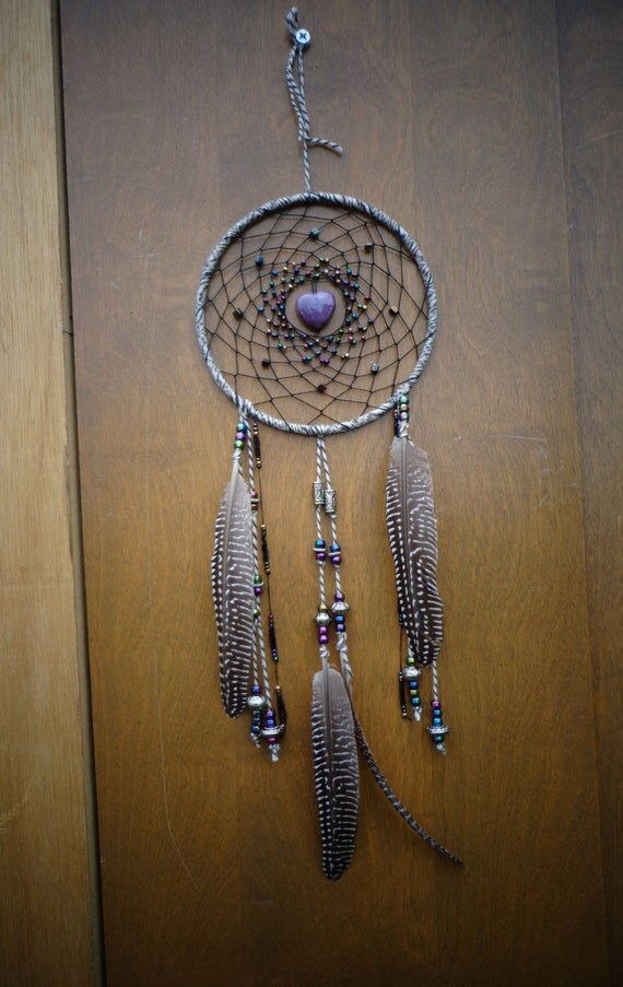 Dream a better dream with me-white and black wool dreamcatcher