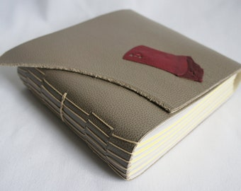 Leather Cover Blank Book (Long-Stitch)