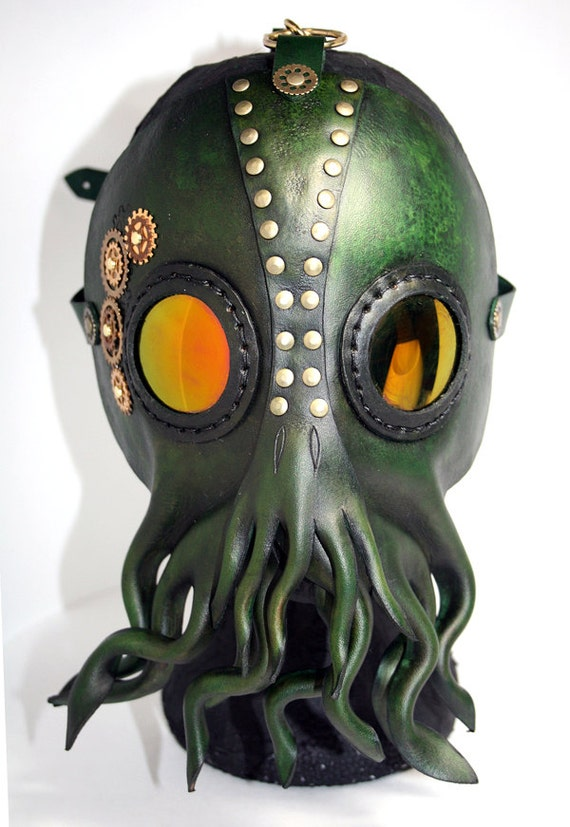 steampunk cthulhu mask lovecraft inspired tentacle cultist
