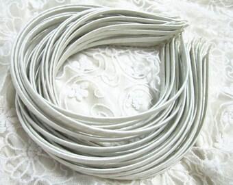 20pcs white  Satin Covered metal Headband  5mm Wide