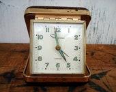 Vintage Travel Clock - Ingraham Clock - Retro Alarm Clock