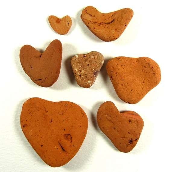Heart Shaped Beach Terracotta for Crafts Valentine Crafts