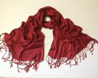 burgundy pashmina scarf, burgundy pashmina shawl, burgundy fashion scarf, pashmina scarf, pashmina shawl, scarf, shawl