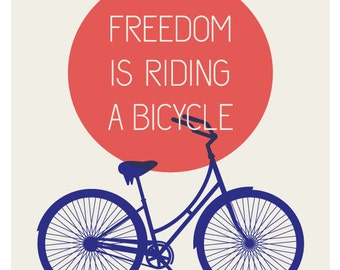 Freedom Bicycle Print - Summer Edition