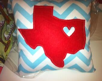 Texas Love pillow