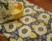 "Yellow Table Runner - Wedding - 13"" X 72"" Table Cloth - Decorative Bloom  Tablerunner Joel Dewberry"