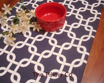 Navy Table Runner, Wedding, Event, Home Decor, Table linens