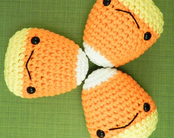 Large Candy Corn - Amigurumi Plush for Halloween and Sweets Fans