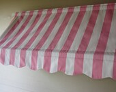 "14 1/2"" High and 71 to 86""  Wide Custom Made Indoor Awning  (Choose from Available Fabrics or Provide Your Own Fabric)"